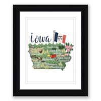 Iowa Paper 22.5-Inch x 27.5-Inch Framed Wall Art in Black