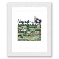 Wyoming Paper 22.5-Inch x 27.5-Inch Framed Wall Art in White