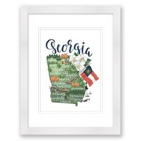Georgia Paper 15-Inch x 18-Inch Framed Wall Art in White