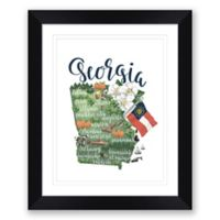 Georgia Paper 22.5-Inch x 27.5-Inch Framed Wall Art in Black