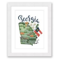 Georgia Paper 22.5-Inch x 27.5-Inch Framed Wall Art in White