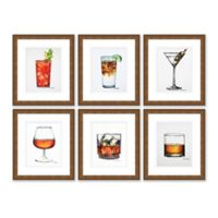 Six Drinks 10-Inch x 11.5-Inch Framed Wall Art