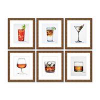 Six Drinks 13.5-Inch x 15.5-Inch Framed Wall Art