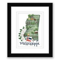 Mississippi 15-Inch x 18-Inch Framed Print Wall Art in Black