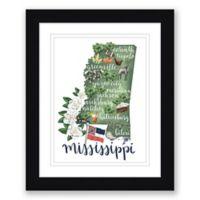 Mississippi 22.5-Inch x 27.5-Inch Framed Print Wall Art in Black
