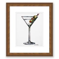 Martini Drink 13.5-Inch x 15.5-Inch Framed Wall Art