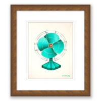 Emerald Fan 13.5-Inch x 15.5-Inch Framed Wall Art