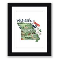 Missouri 22.5-Inch x 27.5-Inch Framed Print Wall Art in Black