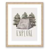 Explore 20-Inch x 24-Inch Framed Print Wall Art