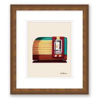 Old Fashioned Radio 13.5-Inch x 15.5-Inch Framed Print Wall Art