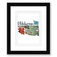 Oklahoma 15-Inch x 18-Inch Framed Print Wall Art in Black