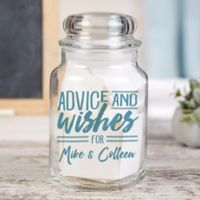 Advice & Wishes For...Personalized Glass Jar