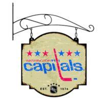 NHL Washington Capitals Vintage-Inspired Metal Pub Sign in Cream