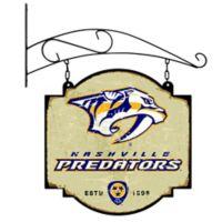 NHL Nashville Predators Vintage-Inspired Metal Pub Sign in Cream