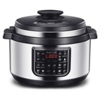Geek Chef 8.5 qt. Oval Shape Multi-Functional Pressure Cooker in Silver