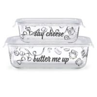 kate spade new york There's A-More™ 2-Piece Rectangular Bowl Set with Locking Lids