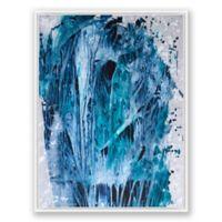 Gray Gray 1 30-Inch x 40-Inch Framed Canvas Wall Art