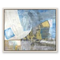 Grey and Blue Abstract 35-Inch x 23-Inch Framed Canvas Wall Art