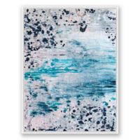 Blush and Blue 2 36-Inch x 48-Inch Abstract Framed Canvas Wall Art