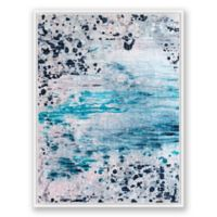 Blush and Blue 2 30-Inch x 40-Inch Abstract Framed Canvas Wall Art