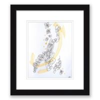 Abstract Sketch 13.5-Inch x 15.5-Inch Paper Framed Print Wall Art