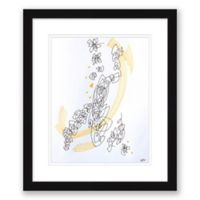 Abstract Sketch 16.5-Inch x 19.5-Inch Paper Framed Print Wall Art