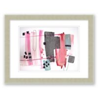 Mid-Century Abstract 14.5-Inch x 17.5-Inch Paper Framed Print Wall Art