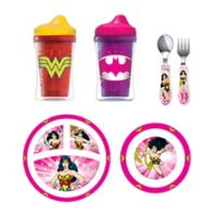 NUK® Justice League Batgirl Toddler Feeding Set in Pink