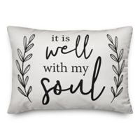 "Designs Direct ""it is well with my soul"" Oblong Throw Pillow"
