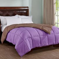 Peace Nest Reversible King Down Alternative Comforter in Purple/Brown