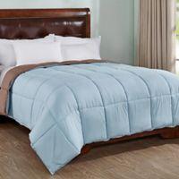 Peace Nest Reversible Full/Queen Down Alternative Comforter in Blue