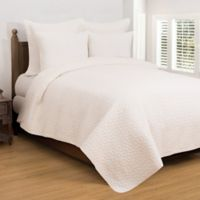 Regent Reversible Twin Quilt Set in Soft White