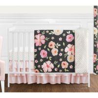 Sweet Jojo Designs® Watercolor Floral 4-Piece Crib Bedding Set