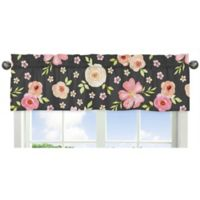 Sweet Jojo Designs Watercolor Floral Window Valance
