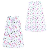 Hudson Baby® Size 18-24M 2-Pack Feather & Wildfox Sleeping Bags in Pink