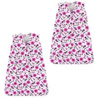 Hudson Baby® Size 18-24M 2-Pack Flower Sleeping Bag in Pink