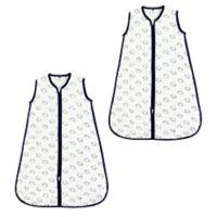 Hudson Baby® Size 6-12M 2-Pack Football Muslin Sleeping Bags in Beige