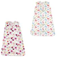 Touched by Nature Size 12-18M 2-Pack Botanical & Butterfly Wearable Blankets in Pink