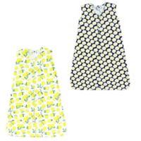 Hudson Baby® Size 12-18M 2-Pack Daisy & Lemon Wearable Blankets in Yellow