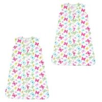 Touched by Nature Size 12-18M 2-Pack Butterfly Wearable Blankets in Pink