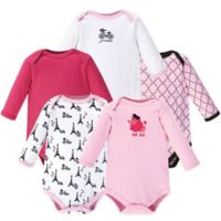 Luvable Friends® Size 9-12M 5-Pack French Poodle Bodysuits in Pink