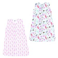 Hudson Baby® Size 0-6M 2-Pack Fox & Flamingo Wearable Blankets in Pink