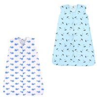Hudson Baby® Size 18-24M 2-Pack Whales and Sailboats Sleep Sacks in Blue