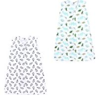Hudson Baby® Size 12-18M 2-Pack Dinosaurs and Penguins Sleep Sacks in Green