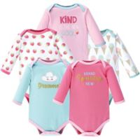 Luvable Friends® Size 9-12M 5-Pack Dreamer Bodysuits in Pink