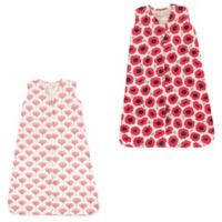 Touched by Nature Size 18-24M 2-Pack Poppy and Tulip Organic Cotton Sleep Sacks in Red