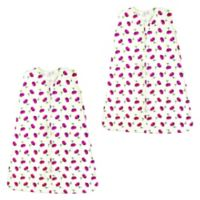 Touched by Nature Size 18-24M 2-Pack Petals Organic Cotton Sleep Sacks in Red
