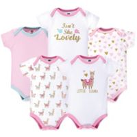 Hudson Baby® Size 18-24M 5-Pack Little Llama Bodysuits in Pink