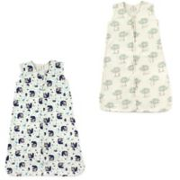 Touched by Nature Size 0-6M 2-Pack Woodland and Birch Tree Wearable Blankets in Blue