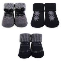 The Hudson Baby® Size 0-6M Gentleman Sock 3-Piece Gift Set